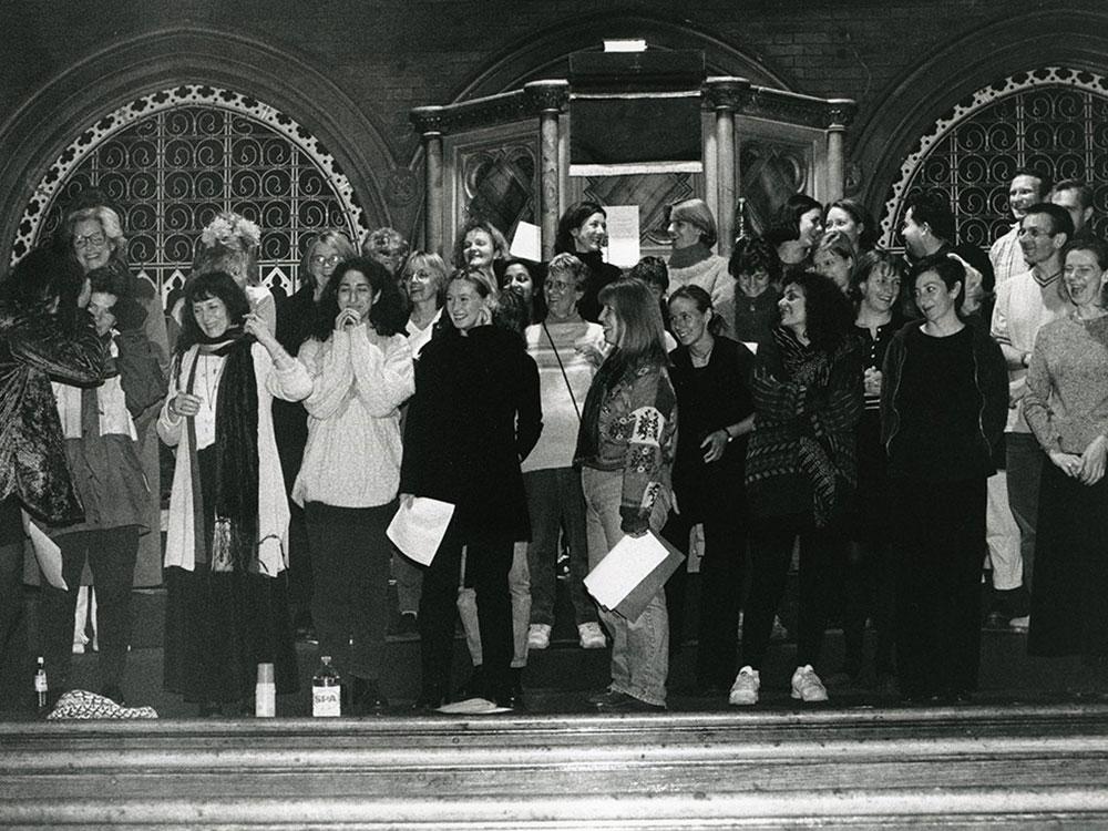Rehearsal of THE BLAZING HEART at Union Chapel London